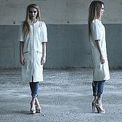 Одежда ручной работы. Ярмарка Мастеров - ручная работа Платье-пальто кожаное. Handmade.