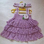 Работы для детей, handmade. Livemaster - original item Baby dress with headband