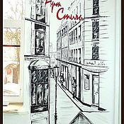 Дизайн и реклама ручной работы. Ярмарка Мастеров - ручная работа Роспись стены. Графика. Handmade.
