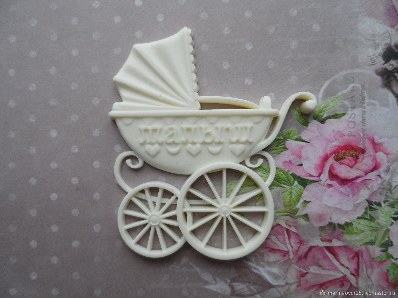 Скрапбукинг коляска на открытке, днем рождения