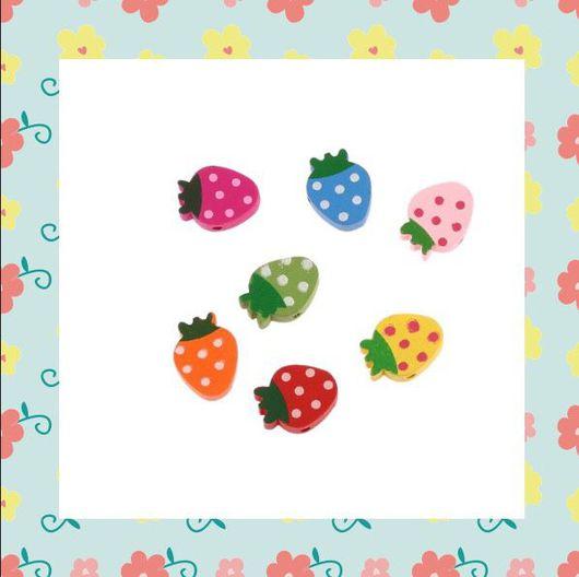 Для украшений ручной работы. Ярмарка Мастеров - ручная работа. Купить бусины деревянные ягоды. Handmade. Комбинированный, бусина, бусины