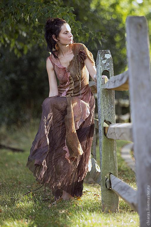 """Платья ручной работы. Ярмарка Мастеров - ручная работа. Купить платье ручной работы из шелка и шерсти """"Montserrat 2"""". Handmade."""