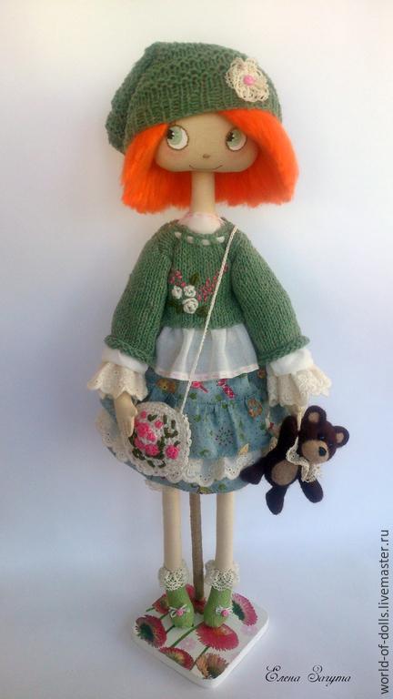 Коллекционные куклы ручной работы. Ярмарка Мастеров - ручная работа. Купить Яся. Handmade. Разноцветный, кукла ручной работы