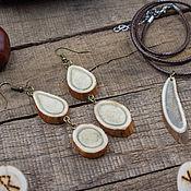 handmade. Livemaster - original item Tundra jewelry set (Pendant Earrings). Handmade.