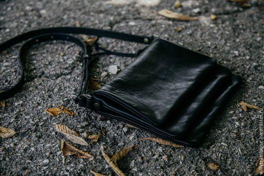 Мужские сумки ручной работы. Ярмарка Мастеров - ручная работа. Купить Black book. Handmade. Черный, кожаные сумки