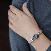 Украшения handmade. Livemaster - original item Pink leather bracelet with labradorite for Scorpio, Virgo Sagittarius. Handmade.