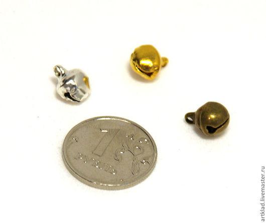 Куклы и игрушки ручной работы. Ярмарка Мастеров - ручная работа. Купить Бубенчики 8 мм (бубенцы, бронзовые, серебряные, золотые). Handmade.