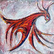 """Картины и панно ручной работы. Ярмарка Мастеров - ручная работа Картина маслом """"Дух огня"""". Handmade."""
