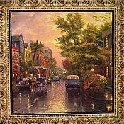 """Картины и панно ручной работы. Ярмарка Мастеров - ручная работа Картина """"Городской пейзаж""""-2. Handmade."""
