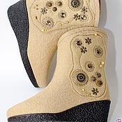 """Обувь ручной работы. Ярмарка Мастеров - ручная работа Сапожки из войлока """"Карамельный гламур"""". Handmade."""