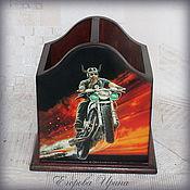 "Канцелярские товары ручной работы. Ярмарка Мастеров - ручная работа Карандашница ""Harley- Davidson"". Handmade."