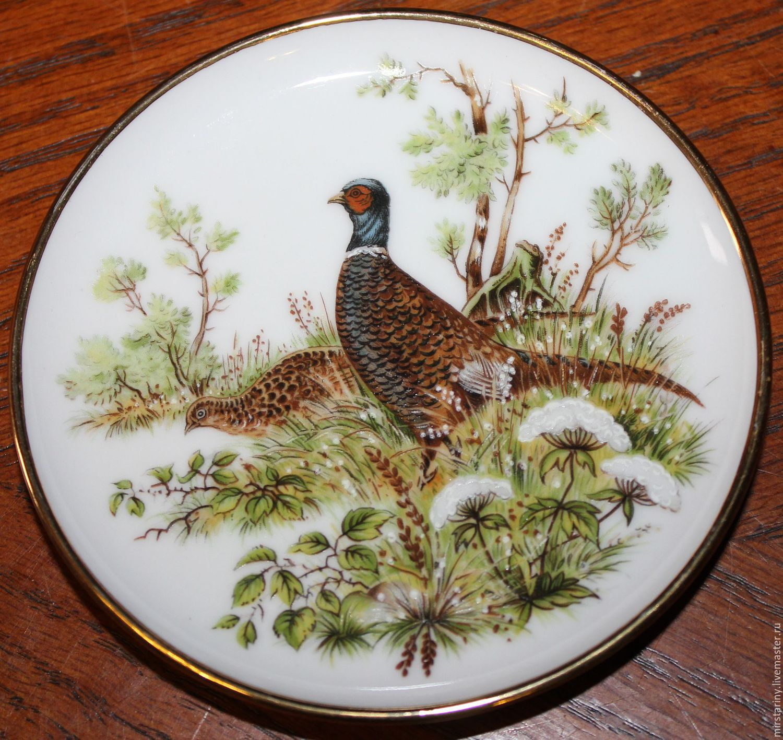 Decorative porcelain mini plates \u0027Game\u0027 Kaiser Germany. & Decorative porcelain mini plates \