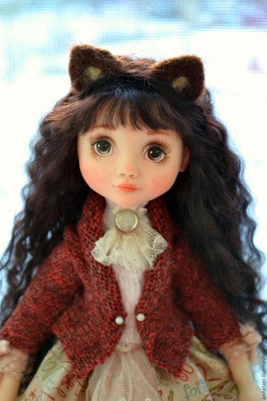 Коллекционные куклы ручной работы. Ярмарка Мастеров - ручная работа. Купить Мышка. Handmade. Коричневый, doll, кожа натуральная