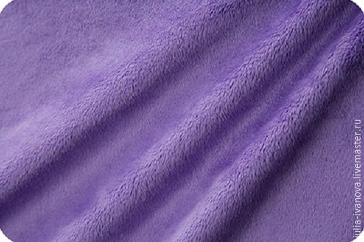 Шитье ручной работы. Ярмарка Мастеров - ручная работа. Купить Плюш коротковорсовый фиолетовый. Handmade. Ткань, ткань для творчества