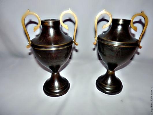 Винтажные предметы интерьера. Ярмарка Мастеров - ручная работа. Купить Парные вазы в классическом стиле. Handmade. Ваза, ампир, латунь