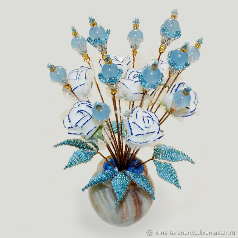 Цветы из топаза «Небесная любовь»