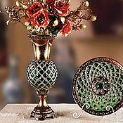 Для дома и интерьера ручной работы. Ярмарка Мастеров - ручная работа Ваза мозаичная, ручной работы. Handmade.