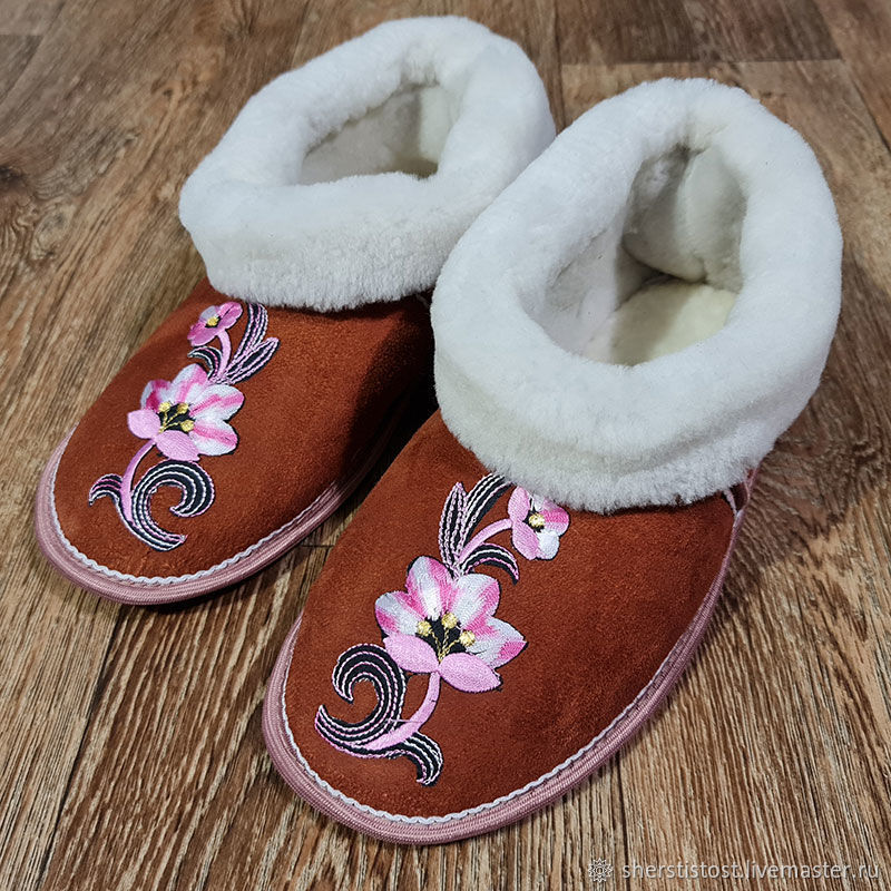 Copy of Slippers of natural sheepskin, Slippers, Nalchik,  Фото №1
