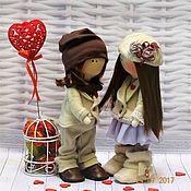 Куклы и игрушки ручной работы. Ярмарка Мастеров - ручная работа куклы тильды Влюбленная пара. Handmade.