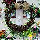 Подвески ручной работы. Рождественский венок. DIVO-decor. Интернет-магазин Ярмарка Мастеров. Новогодний декор, тёмно-зелёный