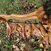 Для дома и интерьера ручной работы. Ярмарка Мастеров - ручная работа Вешалка  оригинальная деревянная. Handmade.