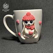 Посуда handmade. Livemaster - original item Mug with decor. Handmade.