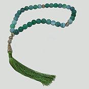 Фен-шуй и эзотерика handmade. Livemaster - original item Muslim rosary of green agate with tassel. Handmade.
