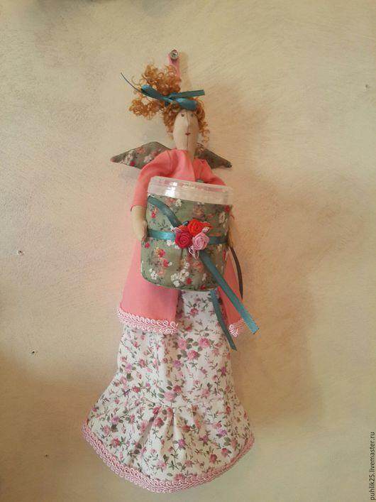 Куклы Тильды ручной работы. Ярмарка Мастеров - ручная работа. Купить Тильда хранительница ватных палочек и ватных дисков. Handmade.