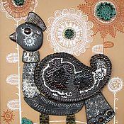 """Картины и панно ручной работы. Ярмарка Мастеров - ручная работа панно """"Птица счастья"""". Handmade."""