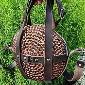 """Классическая сумка ручной работы. Ярмарка Мастеров - ручная работа Круглая сумка с портупеей """" Golden nut"""". Handmade."""