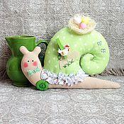 Куклы и игрушки ручной работы. Ярмарка Мастеров - ручная работа улиточка весенняя. Handmade.