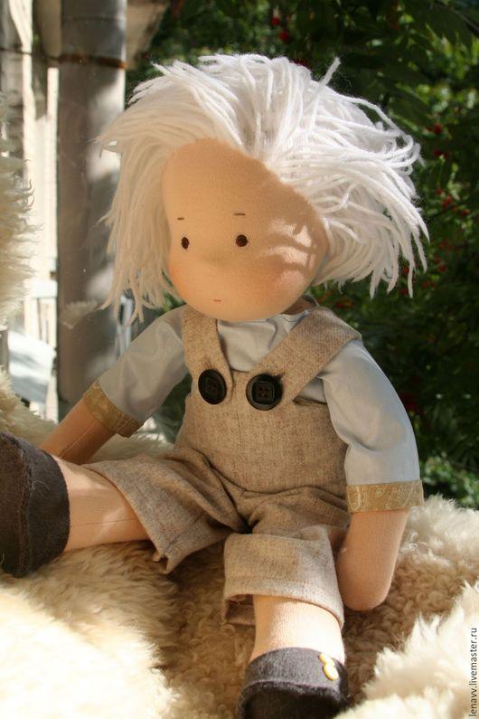 Вальдорфская игрушка ручной работы. Ярмарка Мастеров - ручная работа. Купить Вальдорфская кукла Ванечка. Handmade. Бежевый, вальдорфская игрушка
