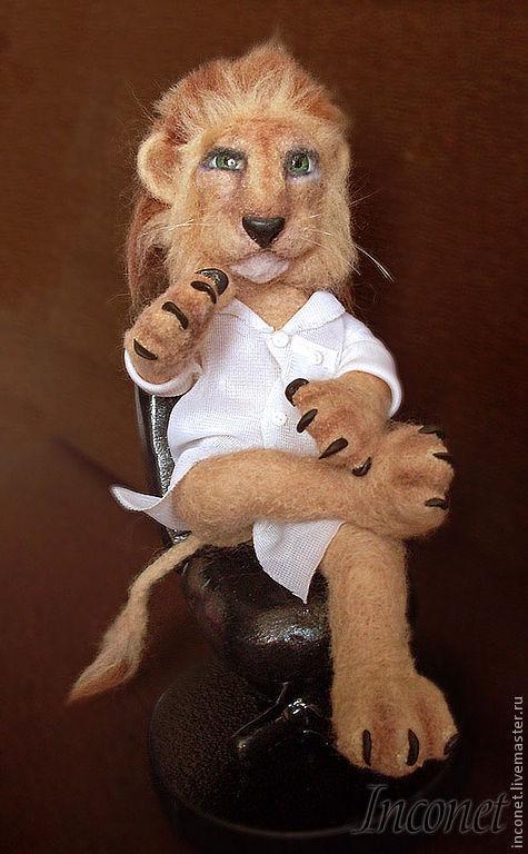 Игрушки животные, ручной работы. Ярмарка Мастеров - ручная работа. Купить Лев - профессор медицины. На заказ.. Handmade. Лев