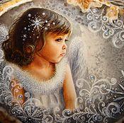 """Роспись для создания украшения (панно) """"Зимний ангел""""."""