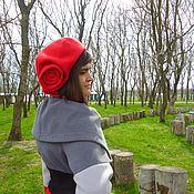 Аксессуары ручной работы. Ярмарка Мастеров - ручная работа Валяный берет Lady in red. Handmade.
