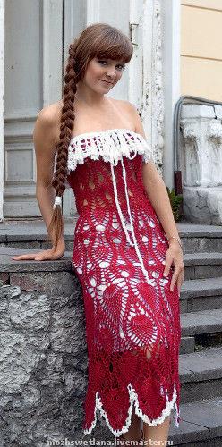 Платья ручной работы. Ярмарка Мастеров - ручная работа. Купить Ажурное летнее платье,авторская работа. Handmade. Вязаное платье