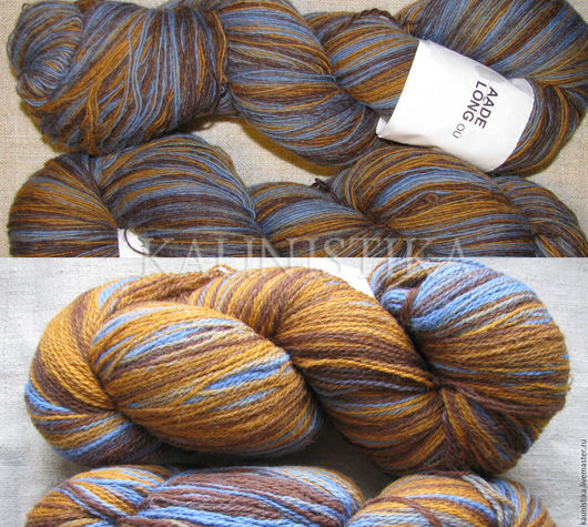 Вязание ручной работы. Ярмарка Мастеров - ручная работа. Купить Кауни Brown-Blue 8/2 и 8/1 (Коричневый-синий). Handmade.