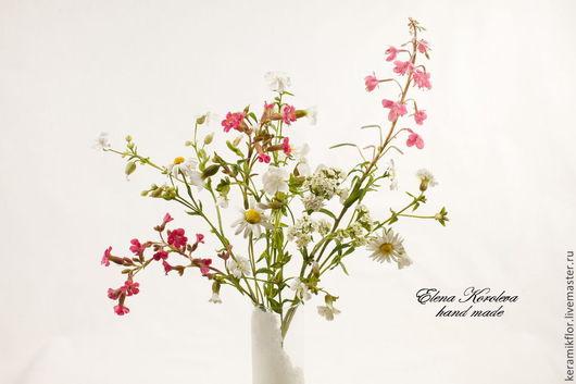 Искусственные растения ручной работы. Ярмарка Мастеров - ручная работа. Купить Букет цветов из полимерной глины №1. Handmade.