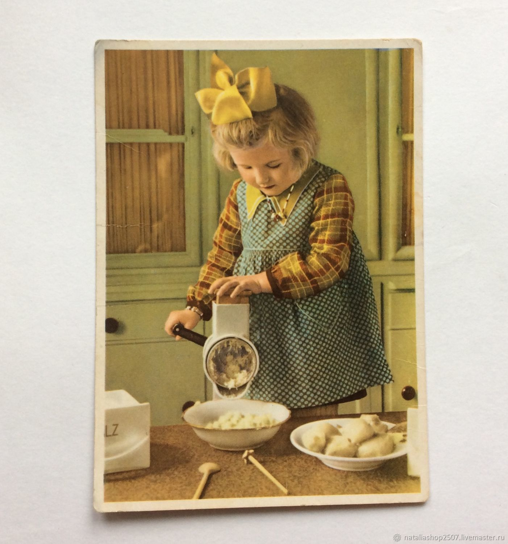 Винтаж: Германия Девочка Открытка 50-е годы Подписана, Открытки винтажные, Москва,  Фото №1