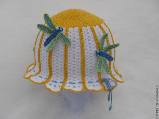 Шляпы ручной работы. Ярмарка Мастеров - ручная работа. Купить Шляпка-Ромашка. Handmade. Белый, летняя шляпка, шляпа крючком