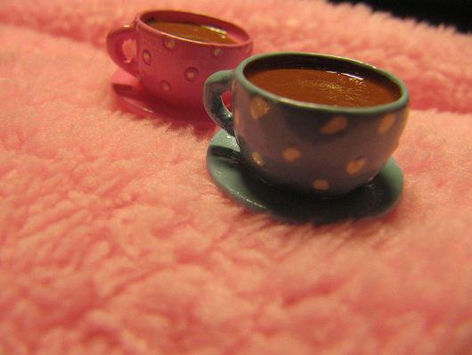 Кружки и чашки ручной работы. Ярмарка Мастеров - ручная работа. Купить Фигурка чашечка кофе в горошек. Handmade.