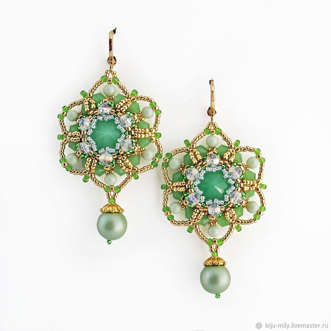 Grace earrings hand-woven Earrings, Earrings, Abakan,  Фото №1