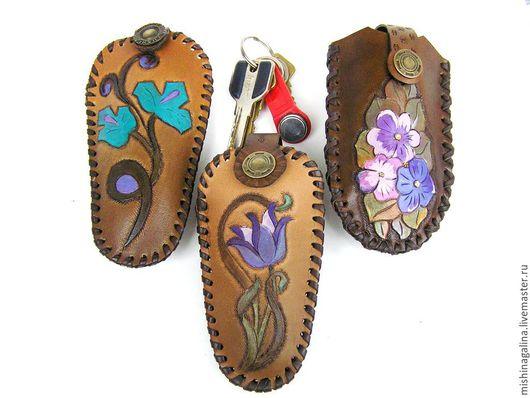 Футляры, очечники ручной работы. Ярмарка Мастеров - ручная работа. Купить Футляр для ключей из натуральной кожи(ключница)Сделано для  М.Чжан. Handmade.