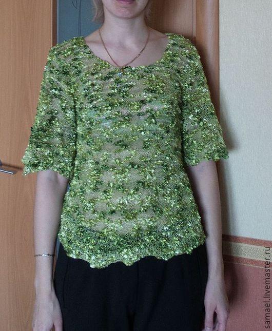 """Блузки ручной работы. Ярмарка Мастеров - ручная работа. Купить Блузка летняя """"Среди листвы"""". Handmade. Зеленый, кофточка"""