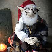 """Куклы и игрушки ручной работы. Ярмарка Мастеров - ручная работа """"Книжный гном""""- авторская текстильная кукла. Handmade."""