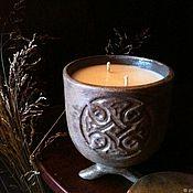 Свечи ручной работы. Ярмарка Мастеров - ручная работа Свеча соевая ароматическая в керамике ручной работы. Handmade.