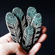 Украшения ручной работы. Ярмарка Мастеров - ручная работа Брошка перо из полимерной глины. Handmade.