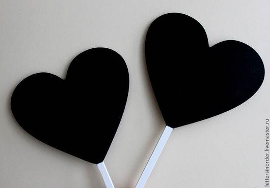 грифельные сердечки. покрытие с двух сторон