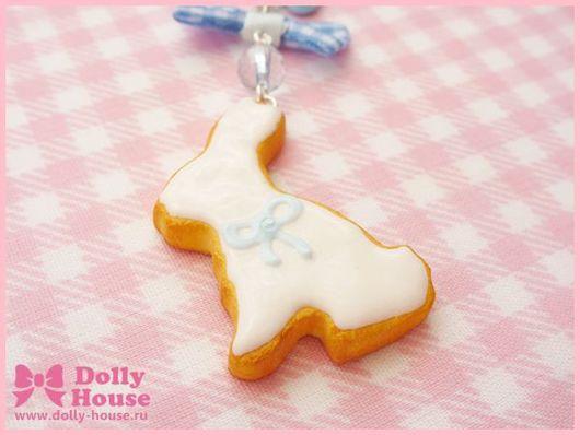 """Брелоки ручной работы. Ярмарка Мастеров - ручная работа. Купить Брелок """"Rabbit Cookie"""". Handmade. Dolly house, авторские украшения"""