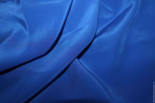 """Шитье ручной работы. Ярмарка Мастеров - ручная работа. Купить Шелк Max Mara """"Кобальт"""". Handmade. Синий, крепдешин"""